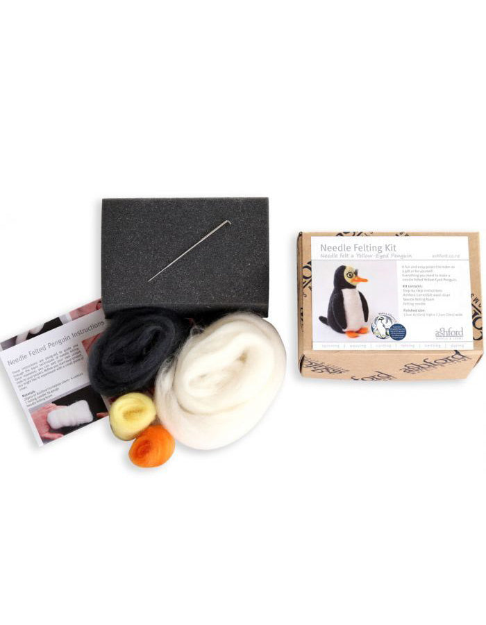 Mini Penguin Needle Felting Kit