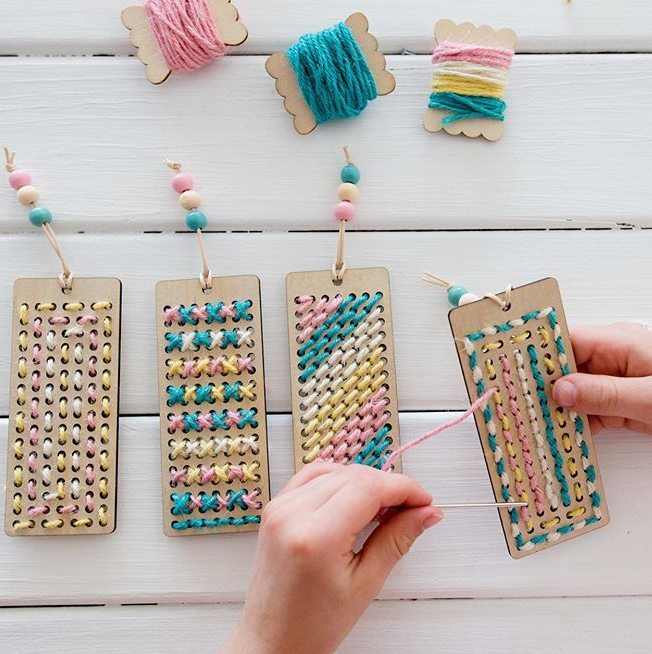 DIY Stitch Bookmarks