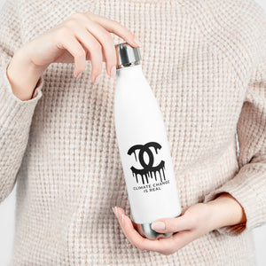 CC Drips Climate Change is Real Reusable Bottle