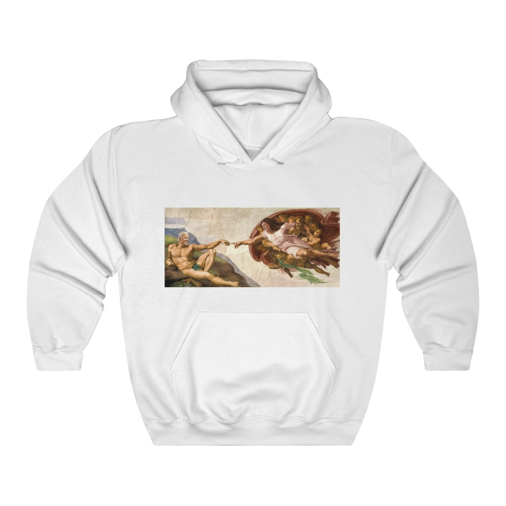 Creation of Biden and Harris Hooded Sweatshirt