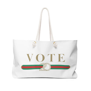 Designer Inspired VOTE 2020 WEEKENDER Tote