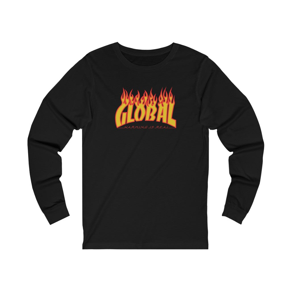 Global Warming Flames Long Sleeve Tee
