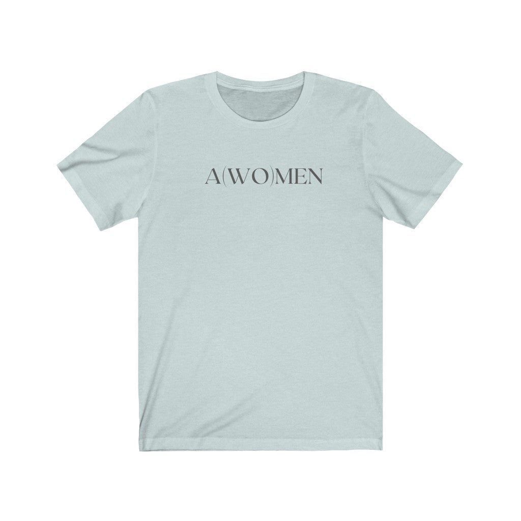 Womens Christian Feminist Shirt Blue