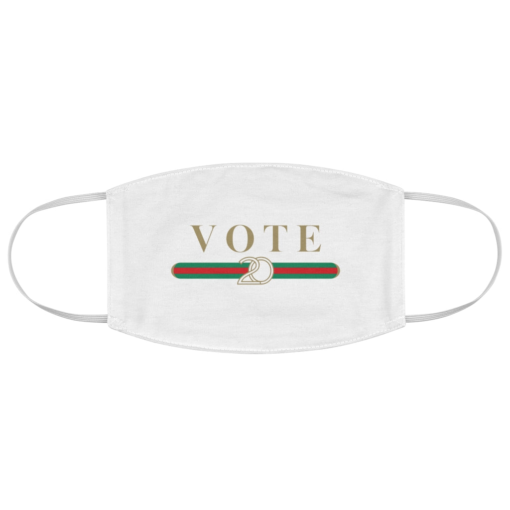 Designer Inspired Vote 2020 Face Mask