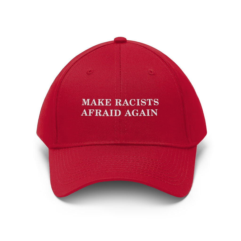 racist afraid maga hat blm black lives matter