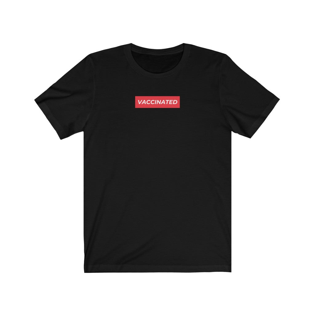 vaccinated quarantine tshirt supreme box logo shirt parody