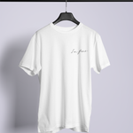 I'm Fine White Tshirt on hanger