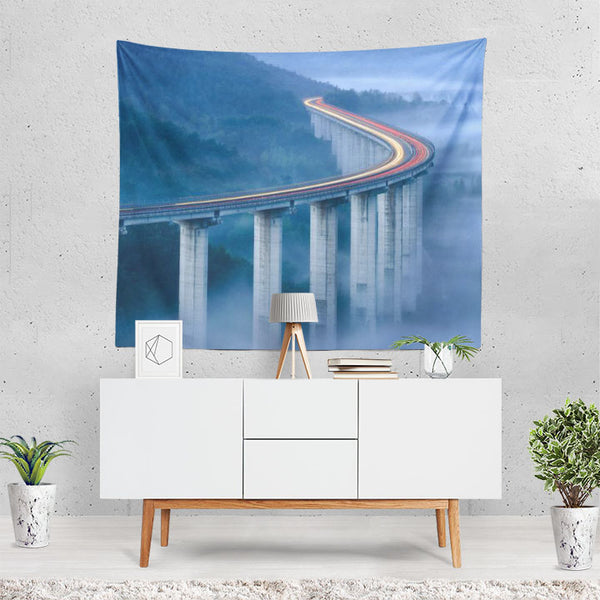 Man Made Bridge Bridges Railroad Time-lapse Fog La Tapestry
