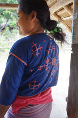 Philippines Mangyan Pakudos Blouse Embroidered
