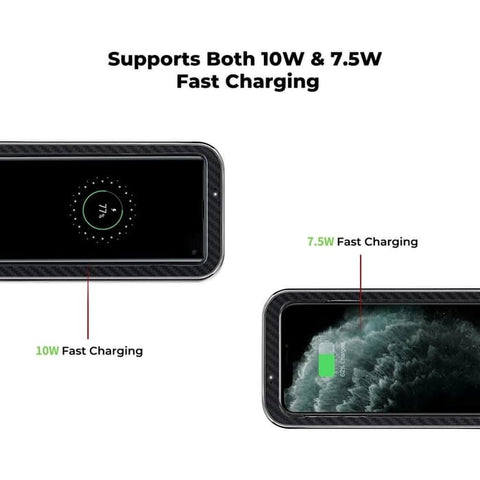 Wireless Charger Pitaka AIRCHARGE ESSENTIAL Fast Charging REAL CARBON
