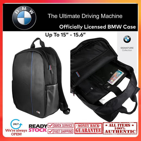 "BMW OFFICIAL Backpack Carbon Stripe UpTo 15.6"" (Macbook, iPad, Laptop)"