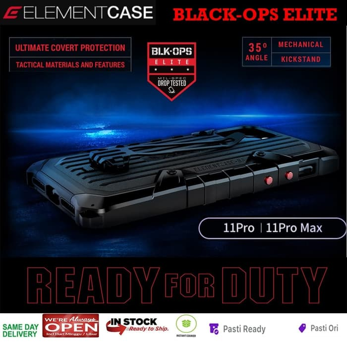 Elementcase BlackOps Elite Casing iPhone 11 Pro Max / iPhone 11Pro