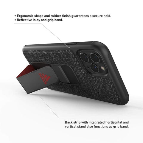 iPhone 11 Pro Max / 11 Pro / 11 Case ADIDAS Grip Case - Black Red