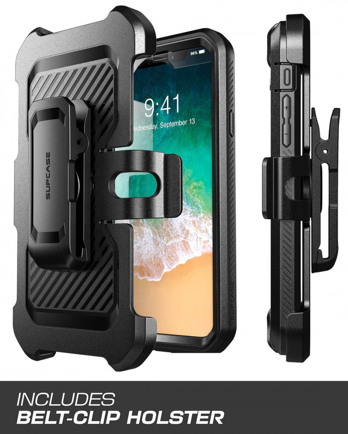 SUPCASE iPhone XS MAX Unicorn Bettle Pro Black (Include Belt Holster)