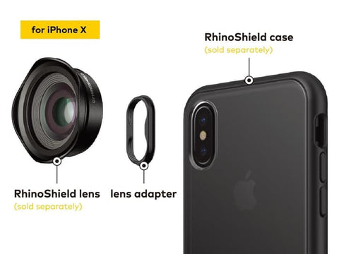RhinoShield Lens Adapter for iPhone X/ XS/ XS Max (New Version)