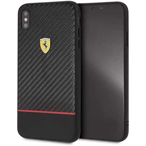 Case iPhone XS MAX FERARRI LICENSED On Track Racing Shield