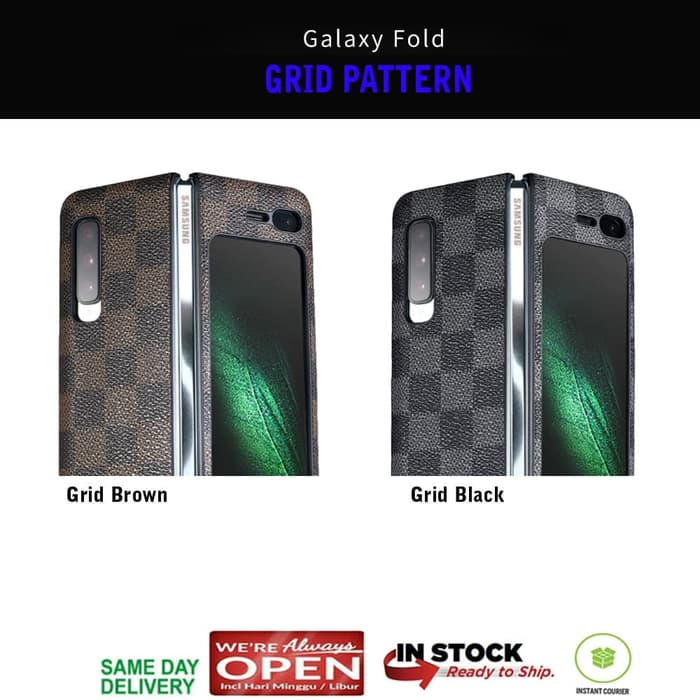 Samsung Galaxy Fold Case Leather GRID PATTERN