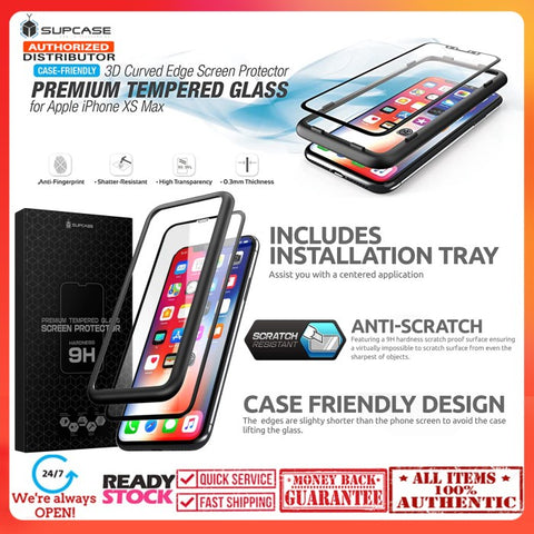 iPhone 11 Pro Max/iPhone Xs Max 3D SUPCASE Premium Tempered Glass