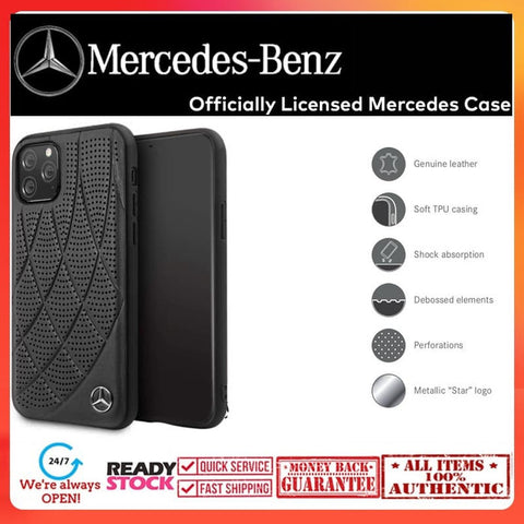 Case iPhone 11 Pro Max / 11 Pro MERCEDES OFFICIAL Leather Quilted