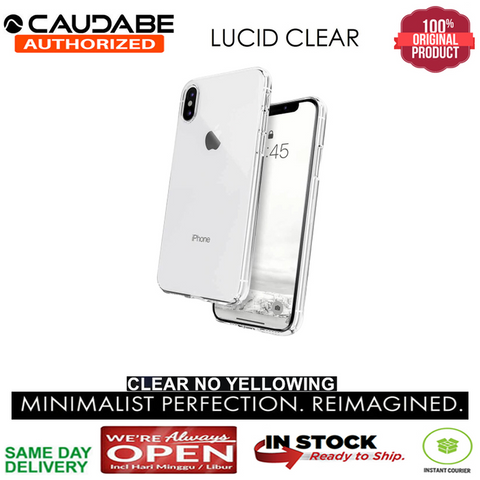 iPhone XS / XS MAX / XR Case Original Caudabe Minimalist Lucid Clear