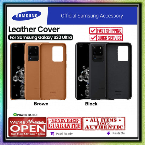 Samsung Galaxy S20 Ultra / S20 Plus Case ORIGINAL Leather Cover