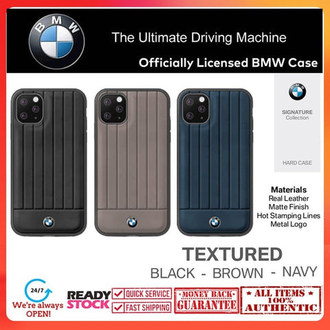 Case iPhone 11 Pro Max / 11 Pro / 11 BMW OFFICIAL Leather Texture