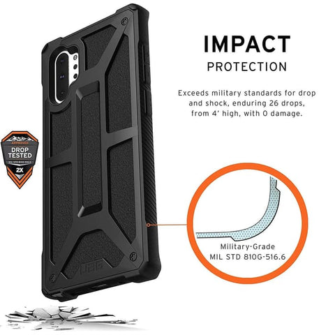 Samsung Galaxy Note 10 Plus Case UAG MONARCH BLACK (CLEARANCE) LIMITED