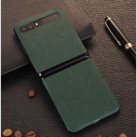 Samsung Galaxy Z Flip Case Leather Skin