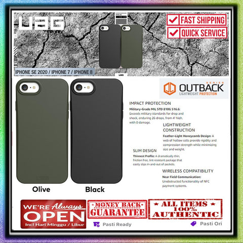 iPhone SE 2020 / 7 / 8 Case UAG Urban Armor Gear OUTBACK Biodegradable