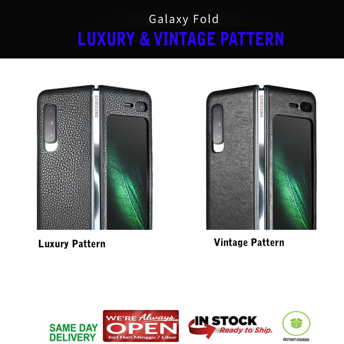 Samsung Galaxy Fold Case Leather PATTERN (Luxury - Vintage)