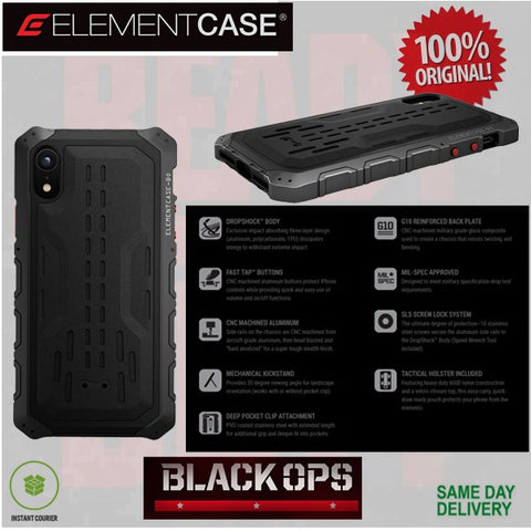 ElementCase IPhone XR Case Black Ops