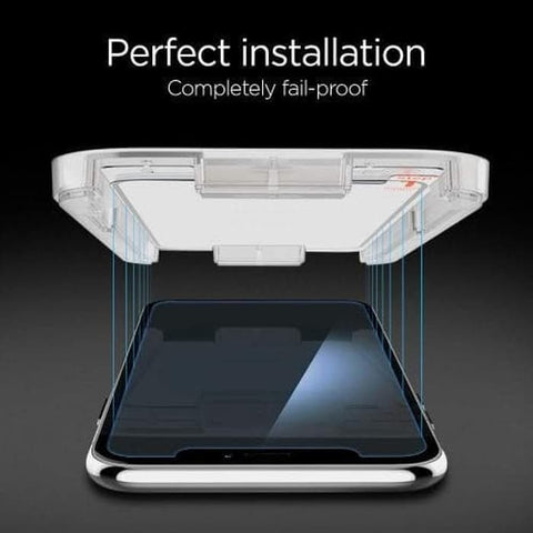 "Spigen Tempered Glass iPhone XS MAX ""Glas.tR EZ Fit"" (1Pack) W/ Tray"