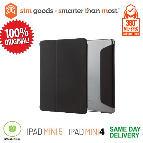 iPad Mini 5 (2019) / iPad Mini 4 STM STUDIO Folio - Black (ORIGINAL)