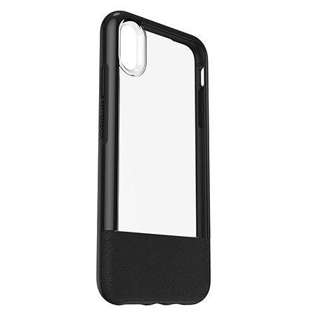iPhone XS MAX Case Otterbox Statement Series - Black (leather) Clear