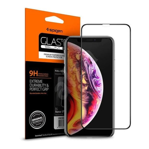 Spigen Tempered Glass iPhone XS MAX Glas.tr Full Cover
