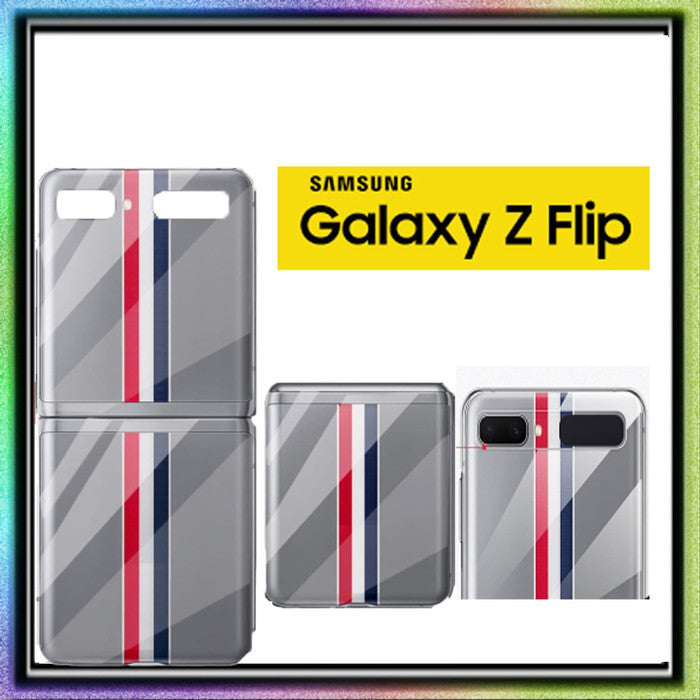 Samsung Galaxy Z FLIP Case Hardcase CLEAR STRIPS (LIMITED ED)