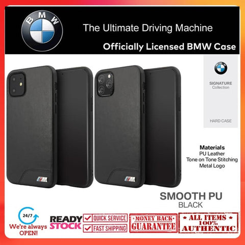 Case iPhone 11 Pro Max / 11 Pro / 11 BMW OFFICIAL Leather Smooth PU