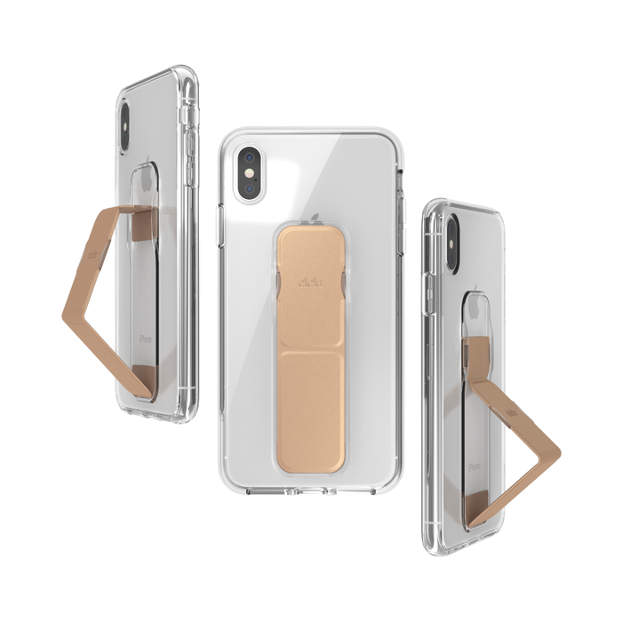 iPhone X /XS Case CLCKR Cover with Stand for Viewing and Grip