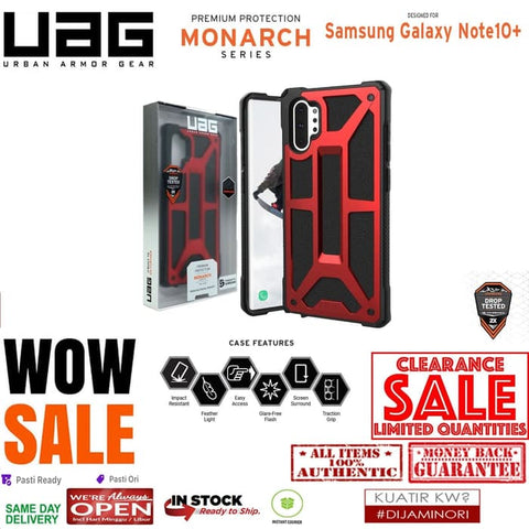 Samsung Galaxy Note 10 Plus Case UAG MONARCH CRIMSON RED (CLEARANCE)