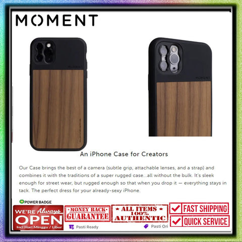 iPhone 11 Pro Max Case MOMENT Walnut Wood