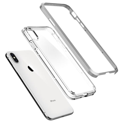 Spigen iPhone XS Max Case Neo Hybrid Crystal Satin Silver (ORIGINAL)