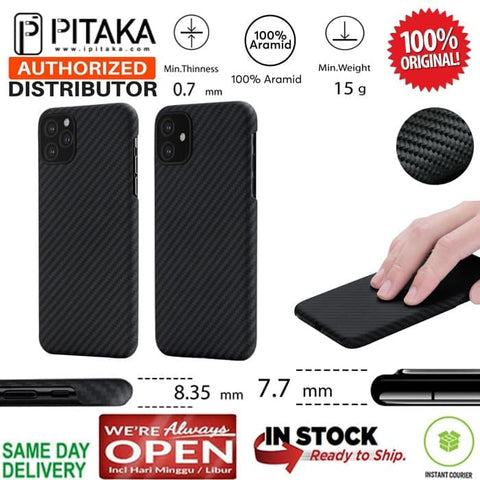 iPhone 11 / 11 Pro / 11 Pro Max Case Pitaka MagCase Real Carbon