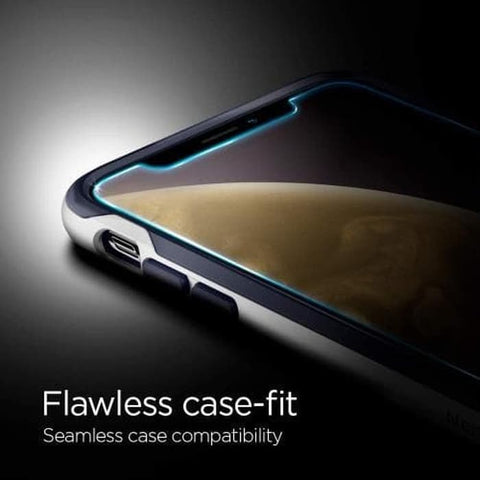 "Spigen Tempered Glass iPhone XR ""Glas.tR EZ Fit"" (1Pack) W/ Tray"