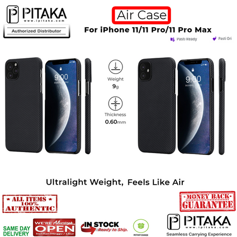 iPhone 11 Pro Max / 11 Pro / 11 Case Pitaka AirCase Real Carbon