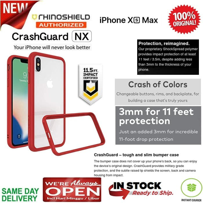 RhinoShield Iphone XS MAX Case CrashGuard NX Bumper