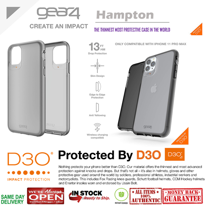 iPhone 11 Pro Max / 11 Pro / 11 Case GEAR4 HAMPTON (Anti Yellowing)