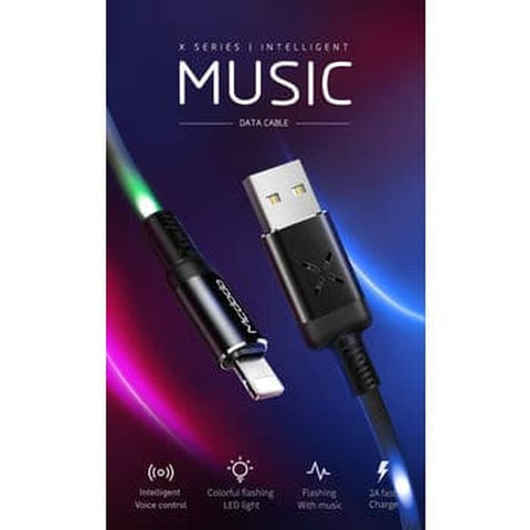 Mcdodo Streaming Light LED USB Lightning Cable iPhone X, XR, XS MAX