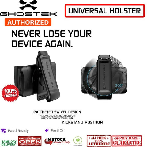 Ghostek UNIVERSAL HOLSTER Dan BELT CLIP (FIT Almost WIth All Case)