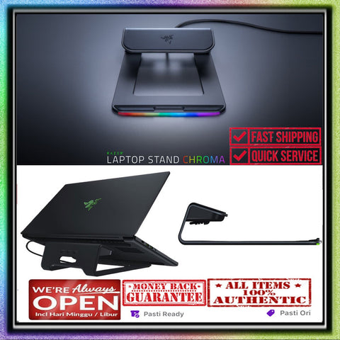 Razer Laptop Stand Chroma Anodized Aluminum Construction - 3X Port USB