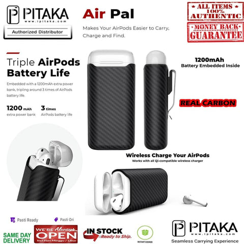 Airpods Gen 2 / 1 Case Pitaka AIRPAL PREMIUM (1200mAH Include)